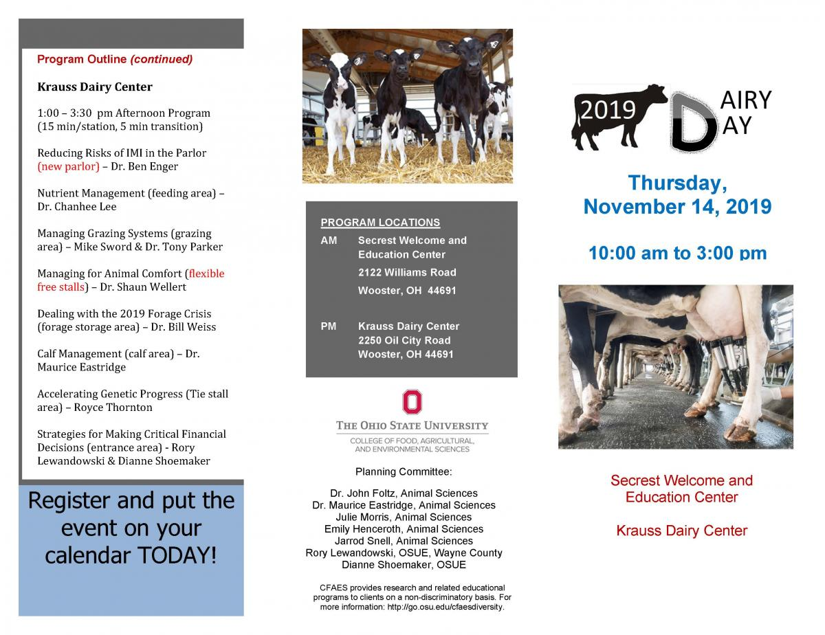 Dairy Day Brochure page 1