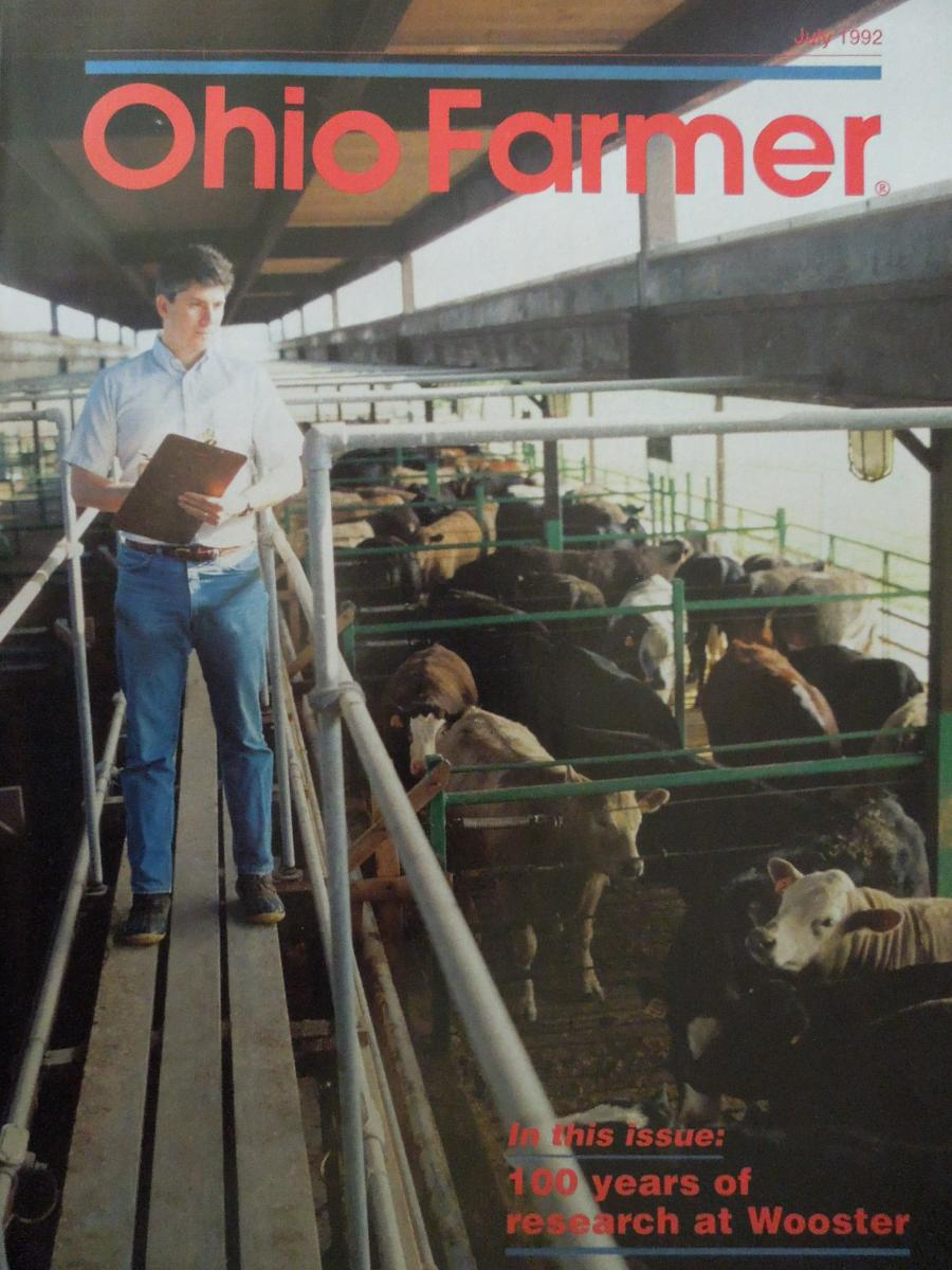 Dr. Fluharty on the cover of Ohio Farmer in 1992