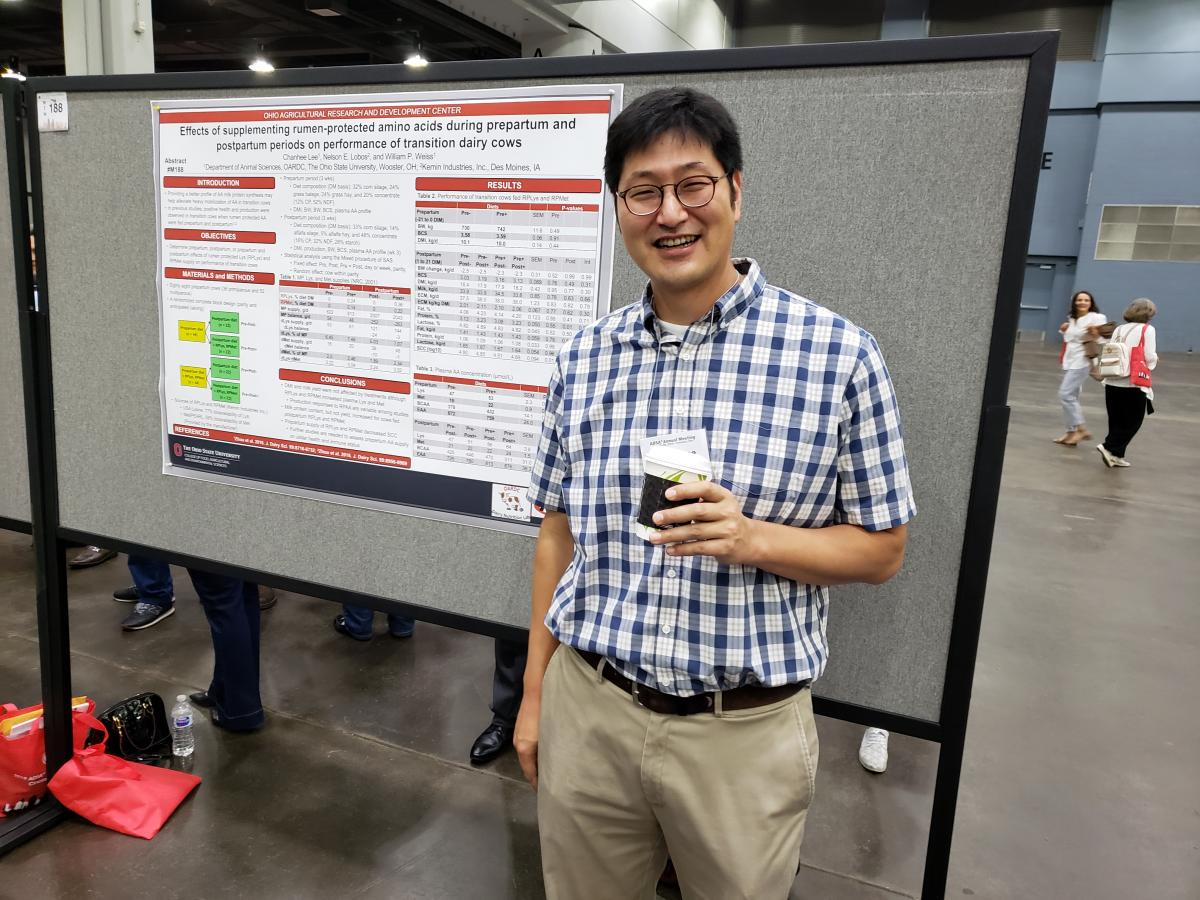 Dr. Chanhee Lee presented in the Ruminant Nutrition: Protein and Amino Acid Nutrition I session.