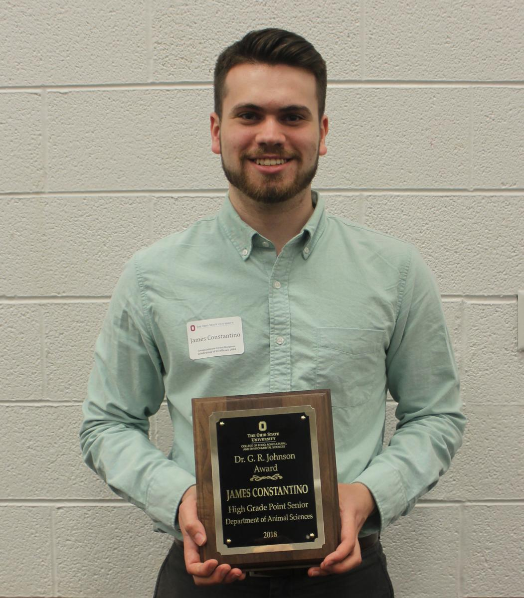 Dr. George R. Johnson Award winner James Constantino