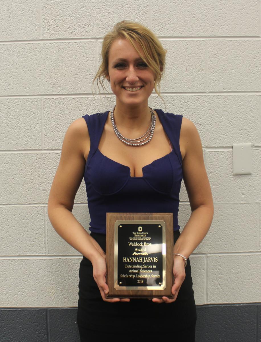 Waldock Brothers Award winner Hannah Jarvis
