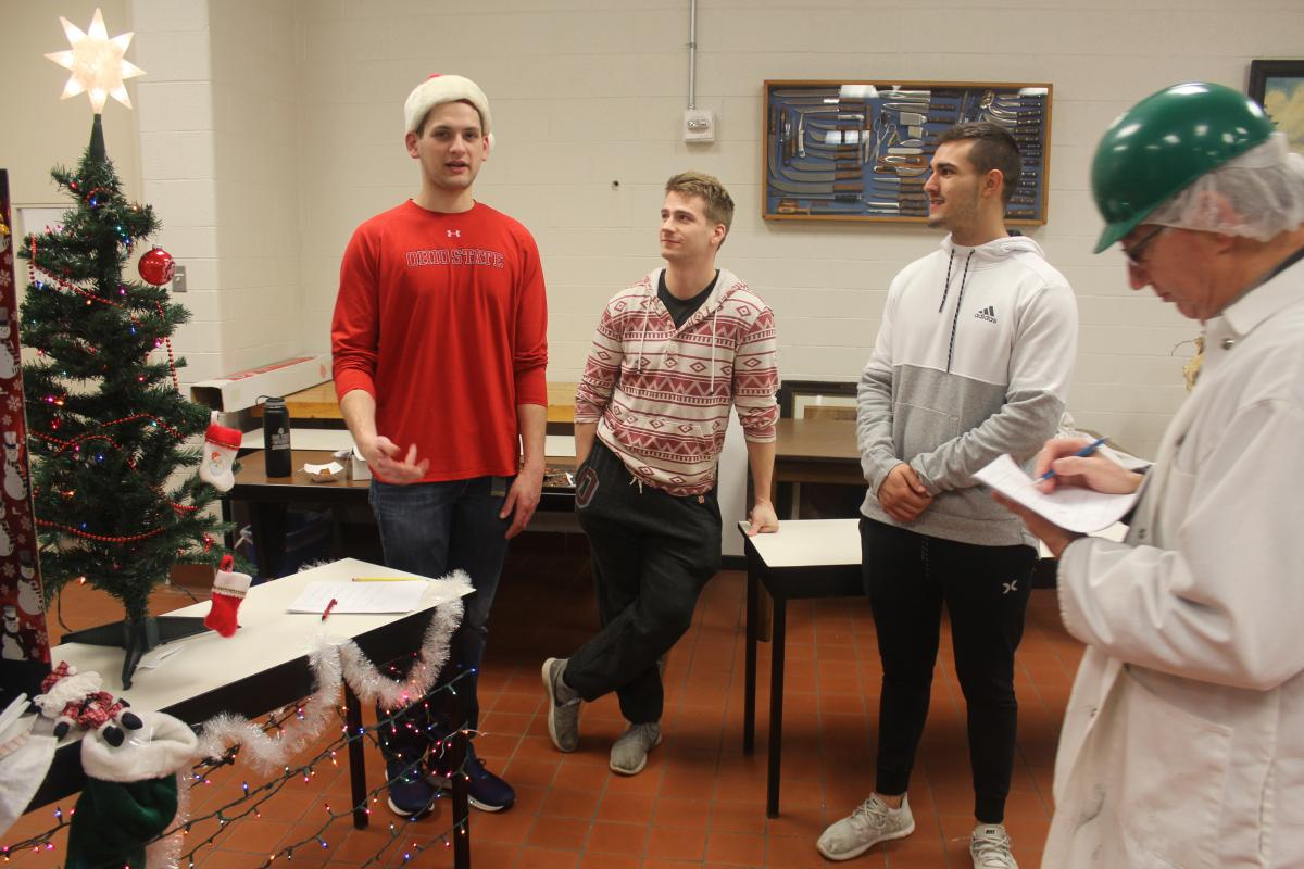 """Duck the Halls"" team (l. to r.) Tyler Kimball, Patrick Hoffman, and David Kelty"