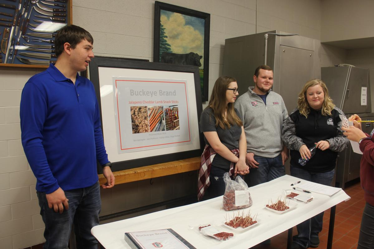 Ben Applegate, Kaitlyn Wiley, Jake Parkinson and Paige McAtee discuss their project
