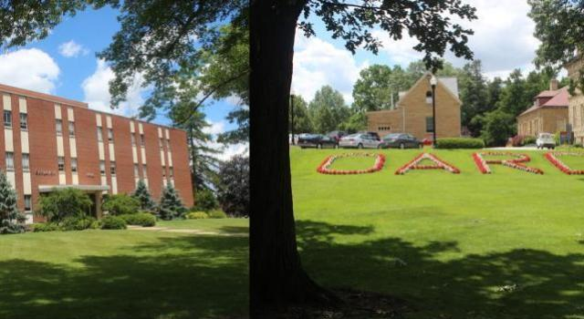 Two different views of Wooster campus