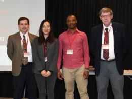 PhD Student Christopher Okonkwo (second from right) placed 2nd among PhD students