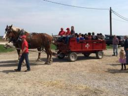 Wagon Rides During the Buckeye Bonanza Open House